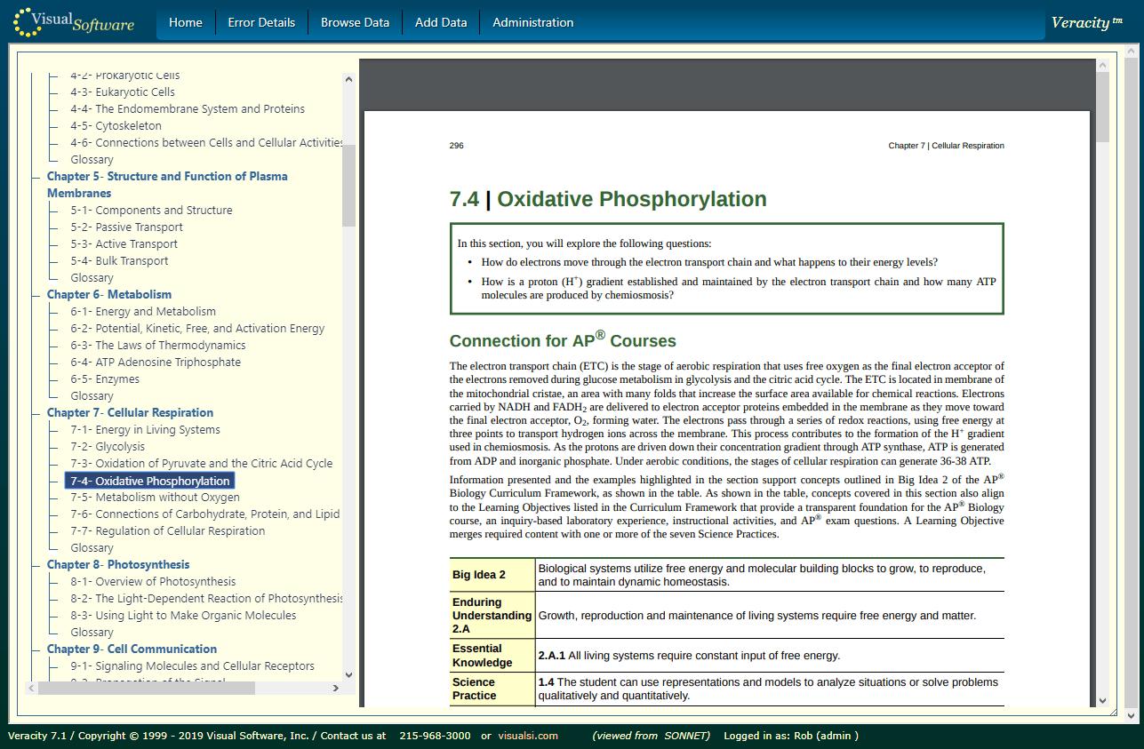 VeracityBookReader - Sustainable Education Technology
