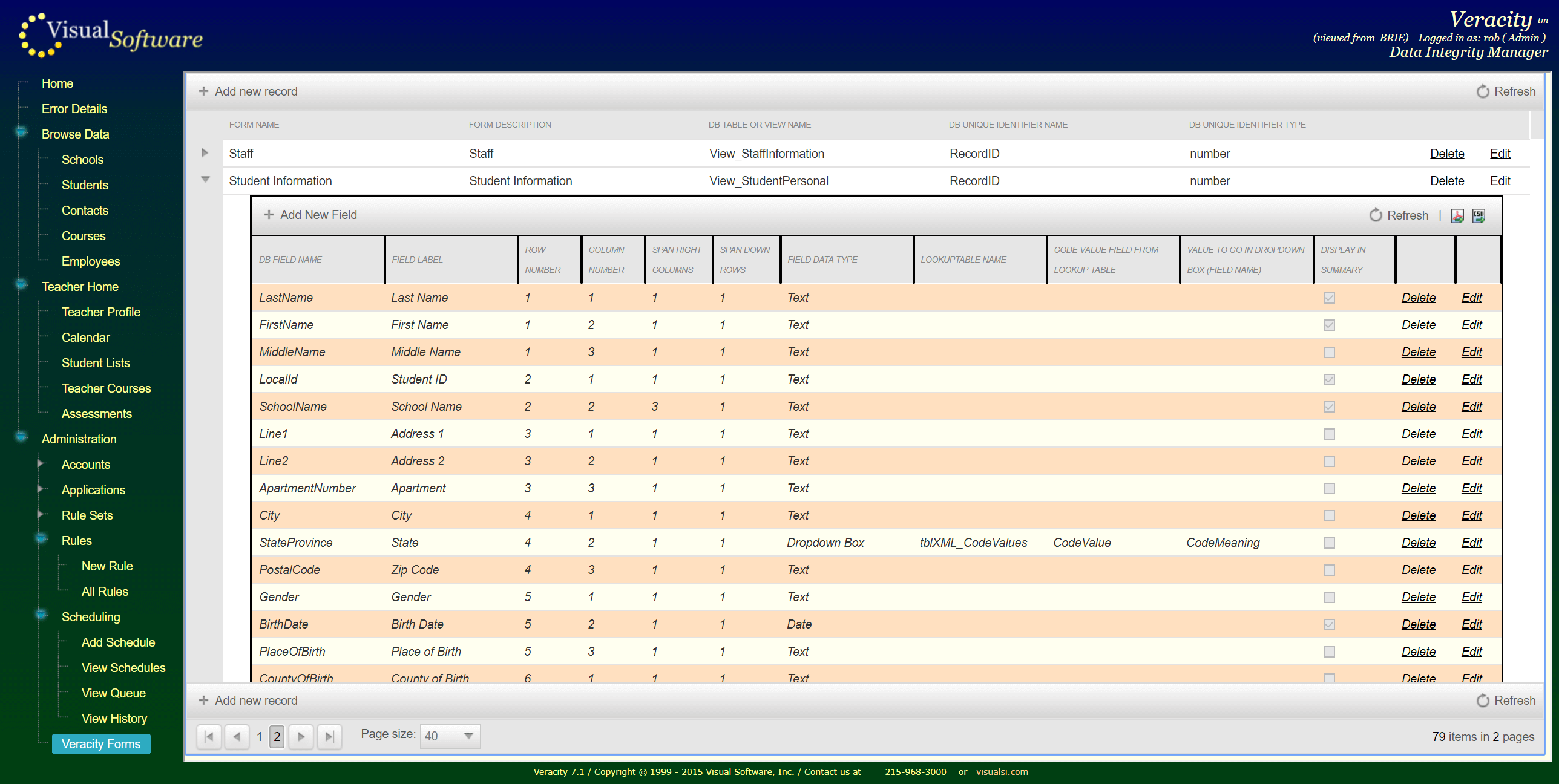 VeracityForms01 - Veracity - Consolidation Agent and Integrity Manager