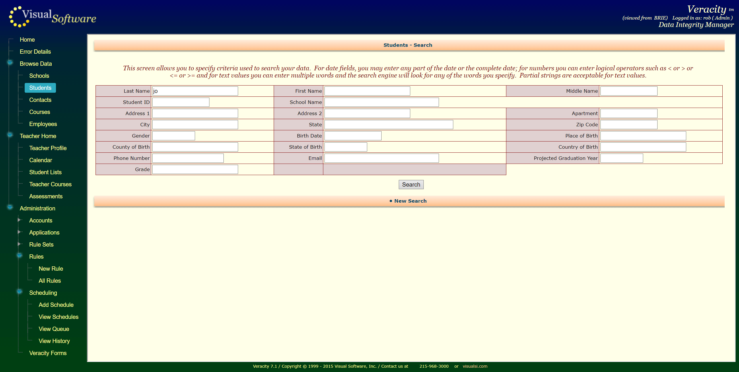 VeracityForms02 - Veracity - Consolidation Agent and Integrity Manager