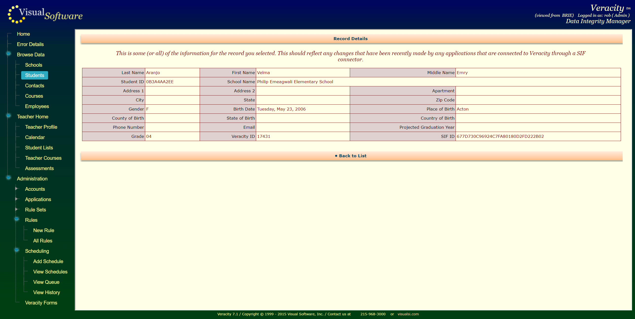 VeracityForms04 - Veracity - Consolidation Agent and Integrity Manager
