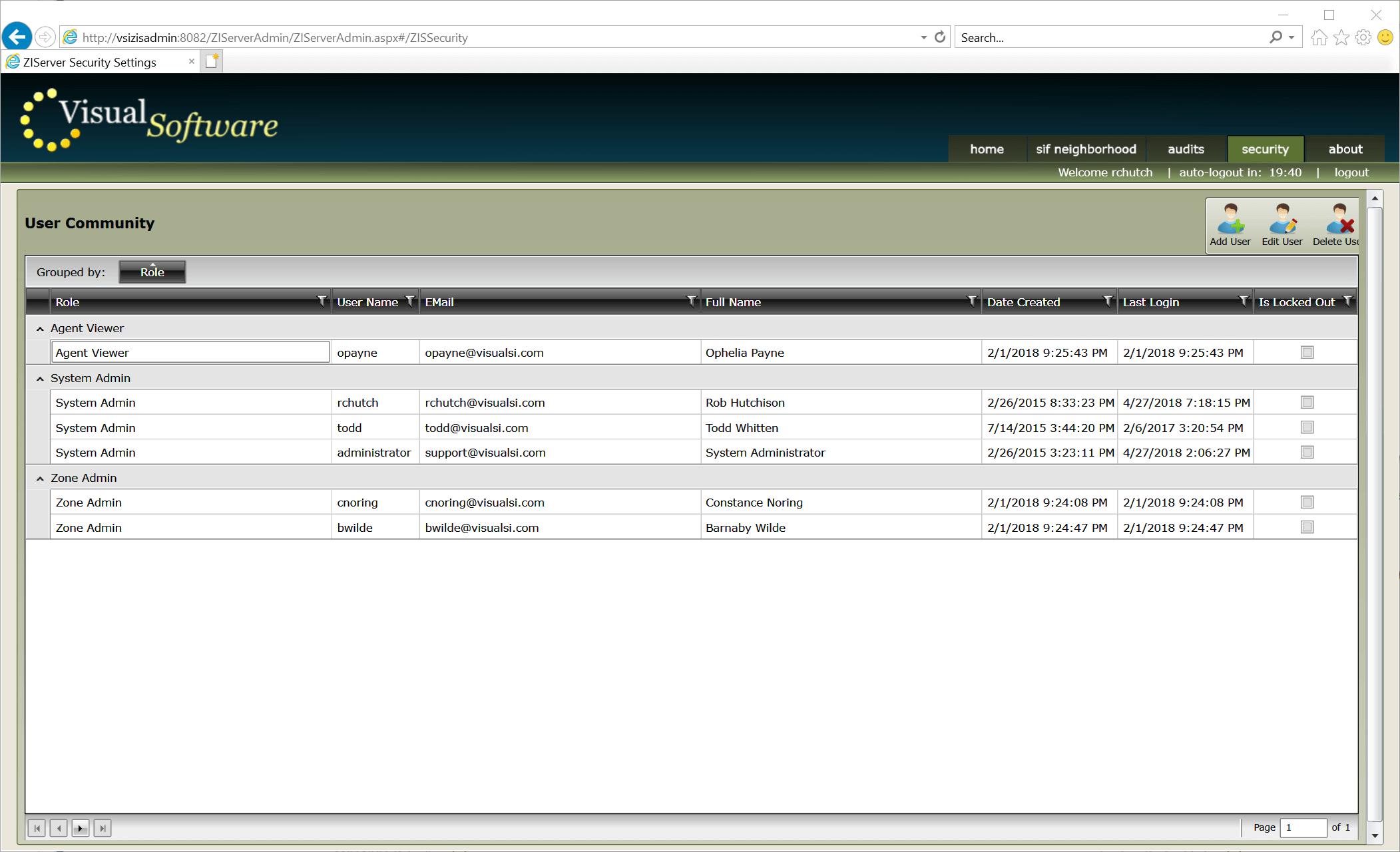ZIServer Accounts01 - ZIServer - High-Speed Message Broker / Switch