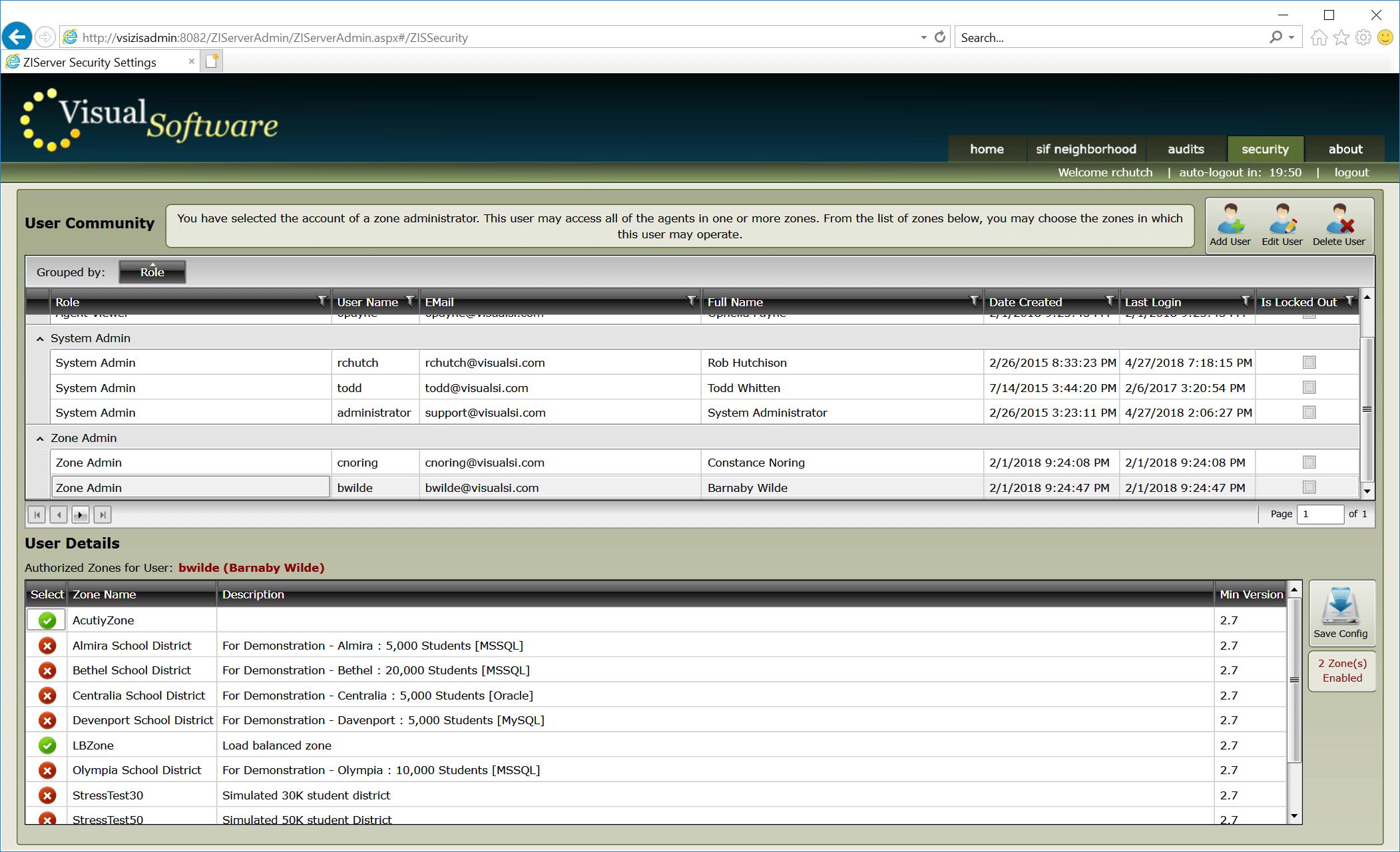 ZIServer Accounts02 - ZIServer - High-Speed Message Broker / Switch