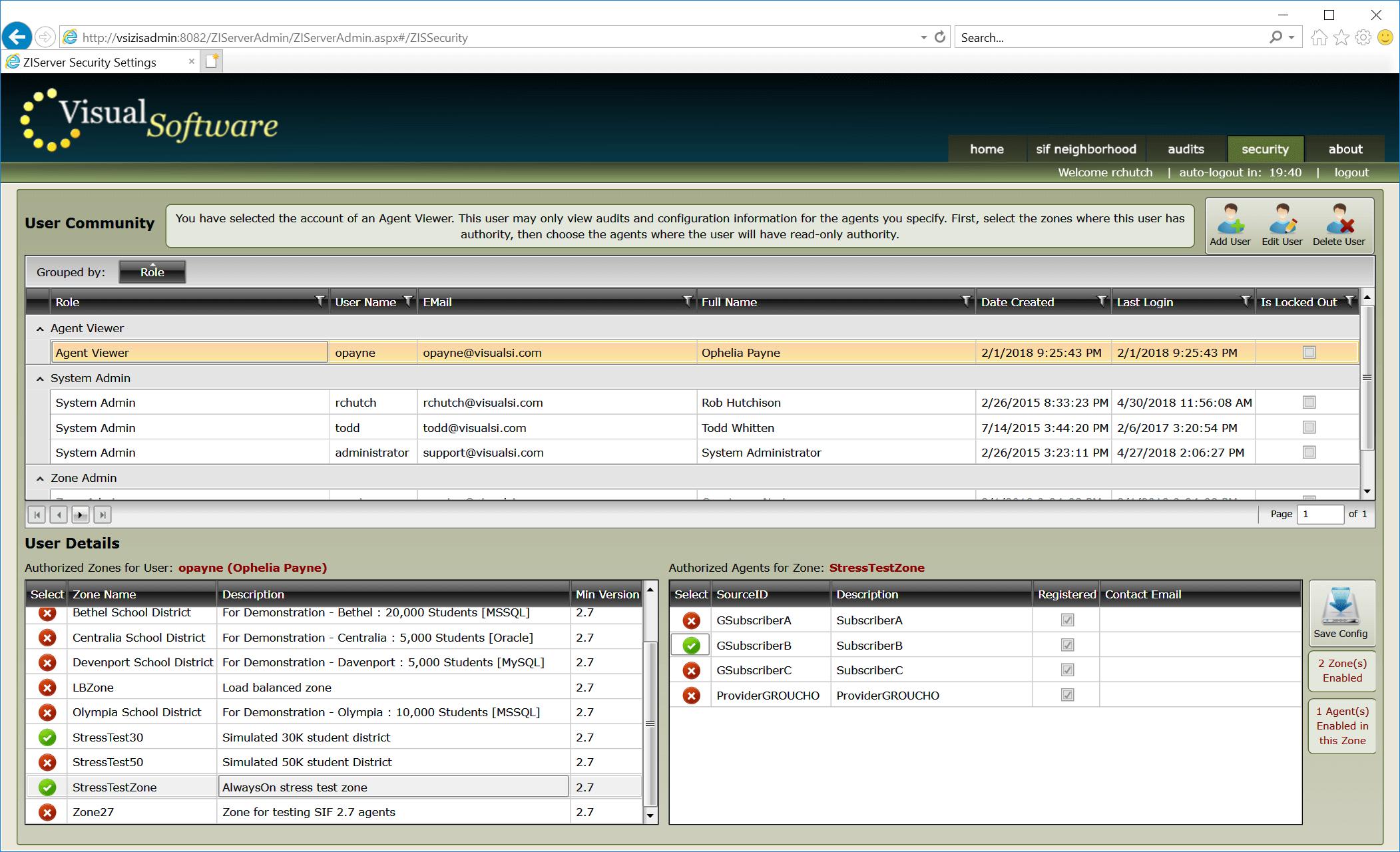 ZIServer Accounts03 - ZIServer - High-Speed Message Broker / Switch