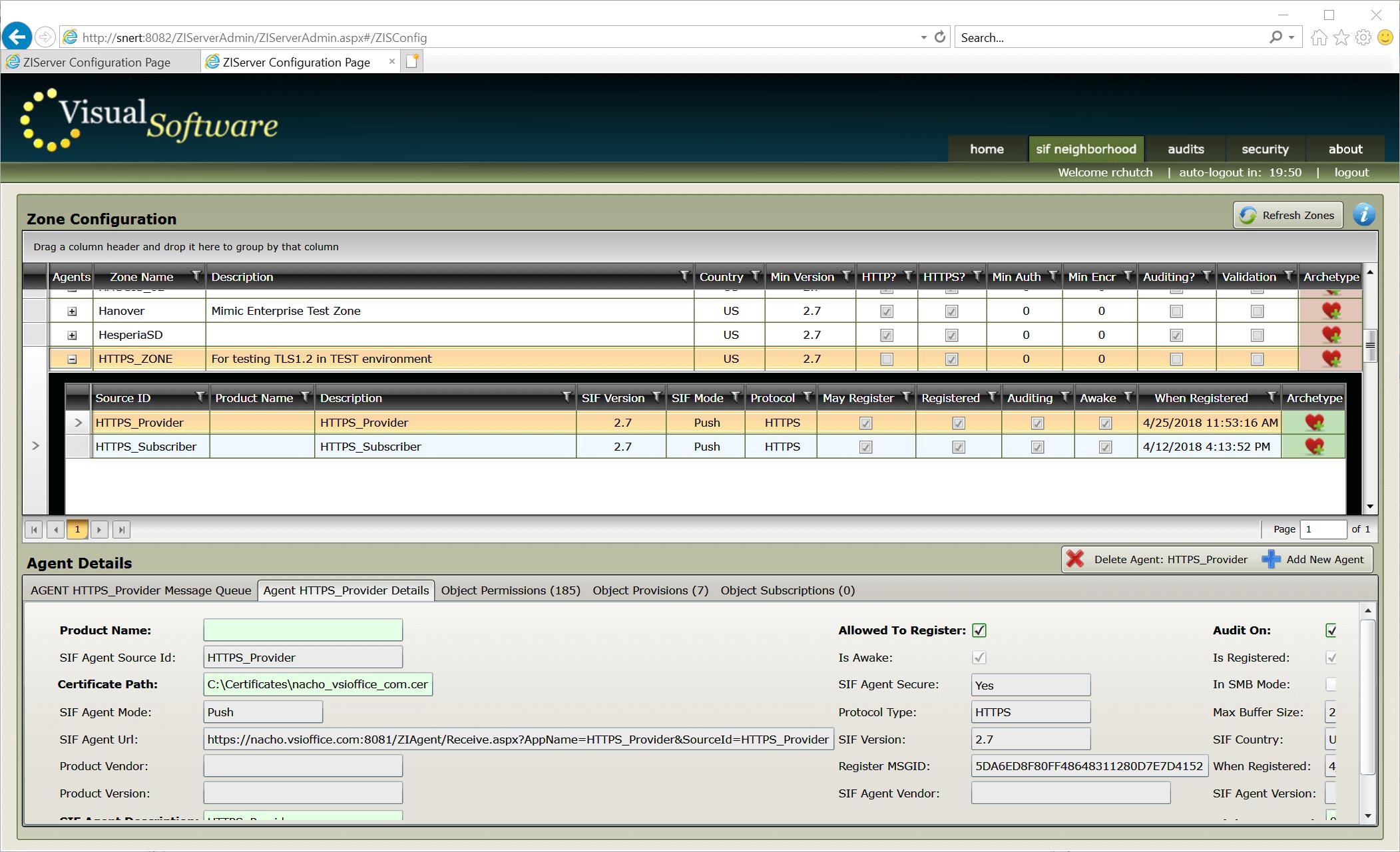 ZIServer HTTPS - ZIServer - High-Speed Message Broker / Switch