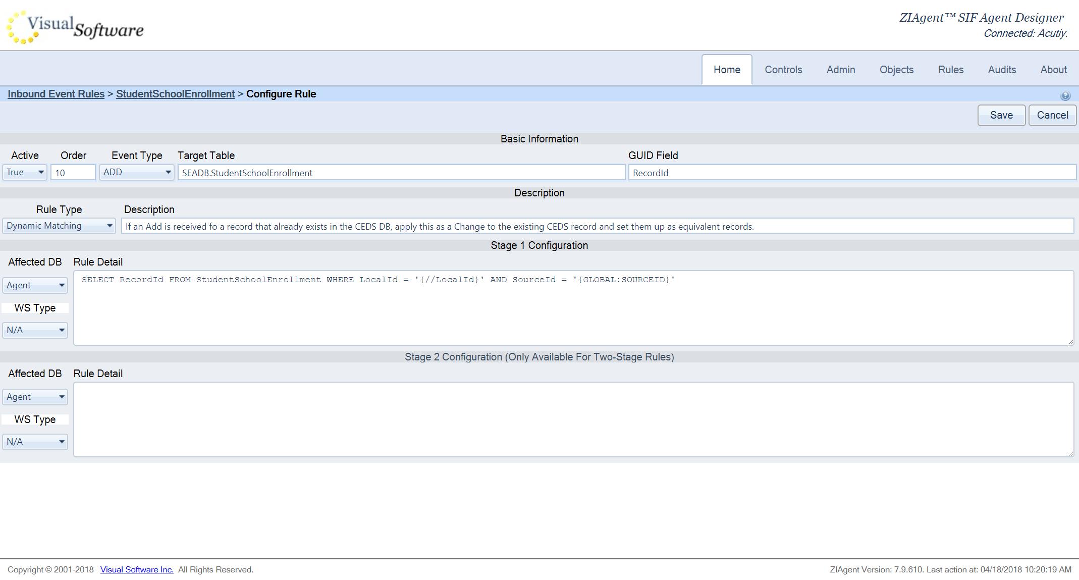 screencapture nacho vsioffice 8082 Designer EditRule aspx 2018 04 18 10 20 24 - ZIAgent - Configurable Application Adapter